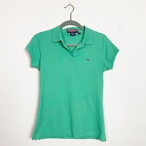 Vineyard Vines Women's Susie Fit Polo Shirt Green